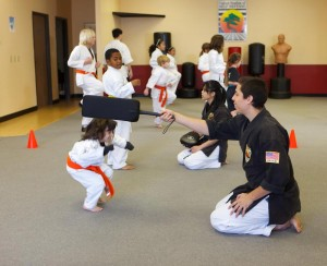 Karate kids instruction