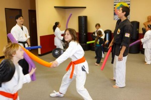 Karate Kids Fun - noodle fight
